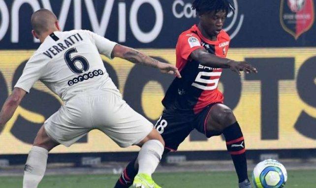 Camavinga lors du succès rennais face au PSG en début de saison