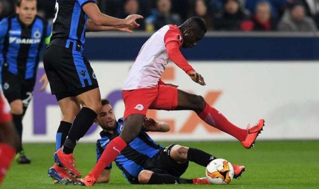 Diadie Samassekou avec Salzbourg lors du match face à Bruges