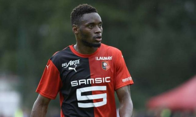 Diafra Sakho sous le maillot de Rennes