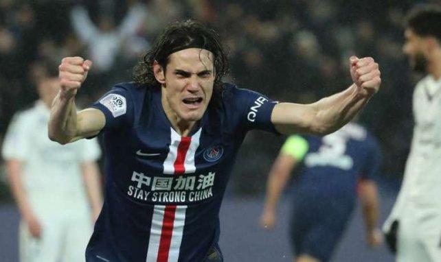 Edinson Cavani en train de célébrer un but contre Bordeaux le 23 février dernier
