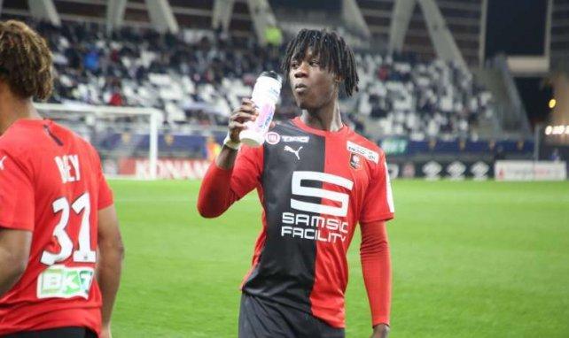 Eduardo Camavinga sous le maillot du Stade Rennais