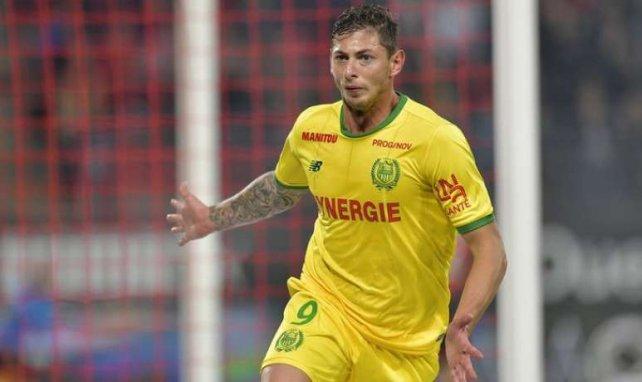 Emiliano Sala fête un but avec le FC Nantes