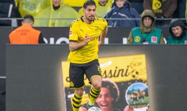 Emre Can lors de la rencontre entre le Borussia Dortmund et Fribourg en Bundesliga
