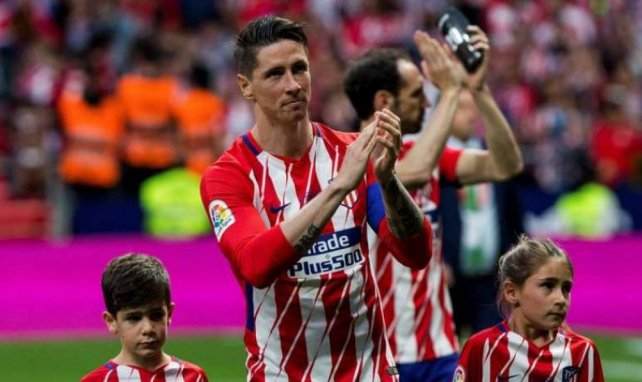 Fernando Torres lors de ses adieux à l'Atlético de Madrid