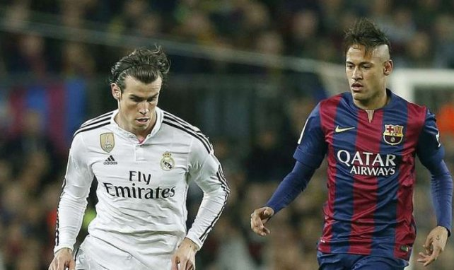Gareth Bale et Neymar lors d'une rencontre entre le Real Madrid et le FC Barcelone