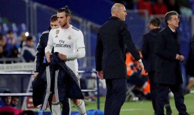 Gareth Bale et Zinedine Zidane lors de la rencontre entre le Real Madrid et Getafe