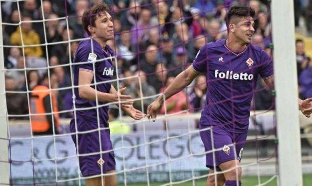 Giovanni Simeone et Federico Chiesa lors de la rencontre entre la Fiorentina et la SPAL