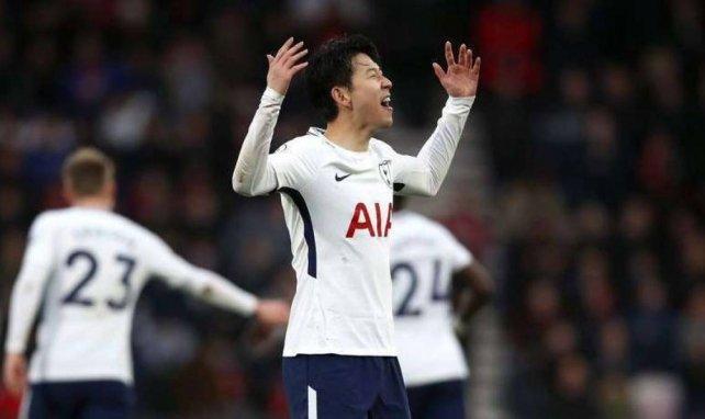 Heung-Min Son avec le maillot de Tottenham
