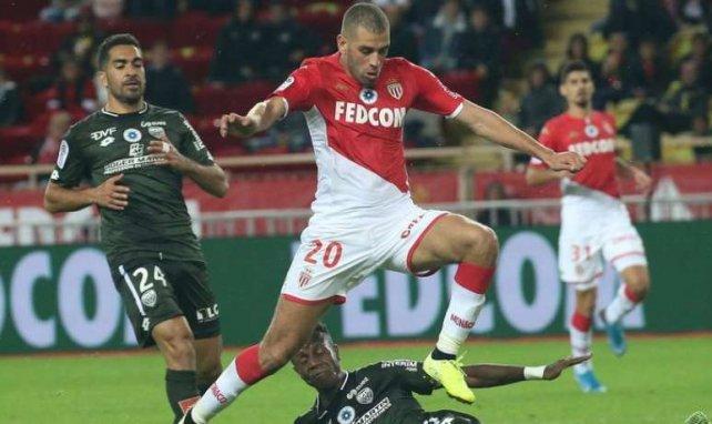 Islam Slimani avec l'AS Monaco cette saison
