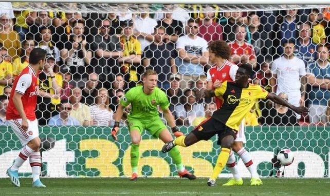 Ismaïla Sarr lors de la rencontre entre Watford et Arsenal