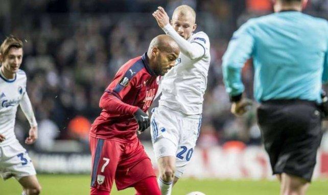 Jimmy Briand a marqué un joli but pour les Girondins de Bordeaux.
