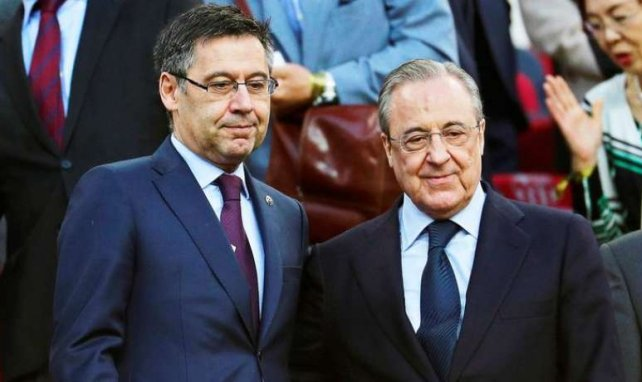 Josep Maria Bartomeu, président du Barça, et son homologue madrilène, Florentino Pérez