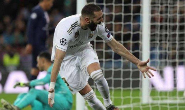 Karim Benzema, qui explose ici de joie sur son deuxième but, a fait très mal au Paris SG