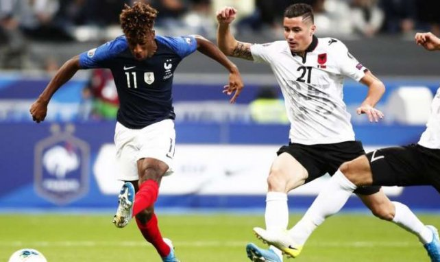 Kingsley Coman a particulièrement brillé contre l'Albanie !