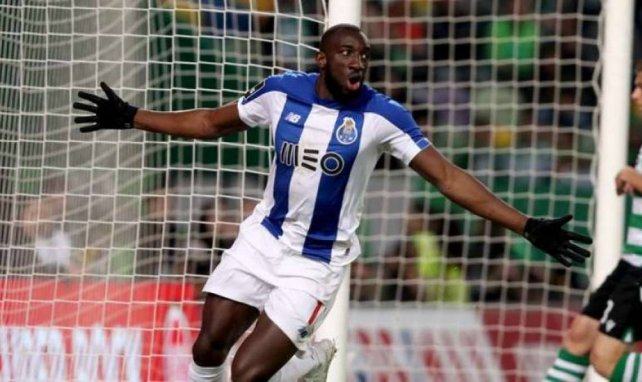 L'attaquant du FC Porto Moussa Marega célèbre un but face au Sporting
