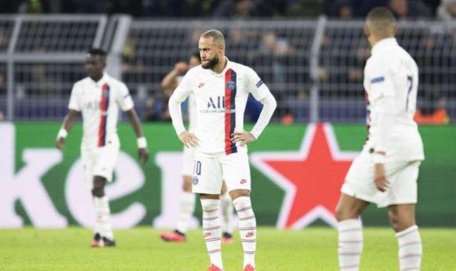 La déception de Neymar et du PSG après la défaite 2-1 face à Dortmund