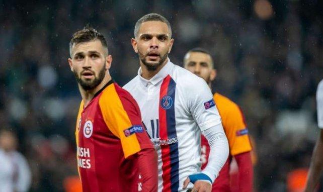 Layvin Kurzawa face à Galatasaray avec le PSG