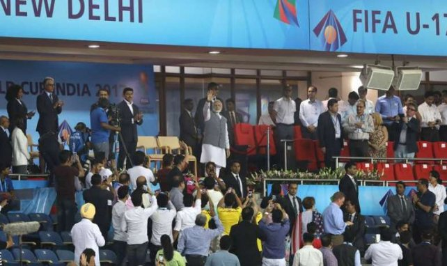 Le Stade Jawaharlal Nehru à New Delhi, en Inde
