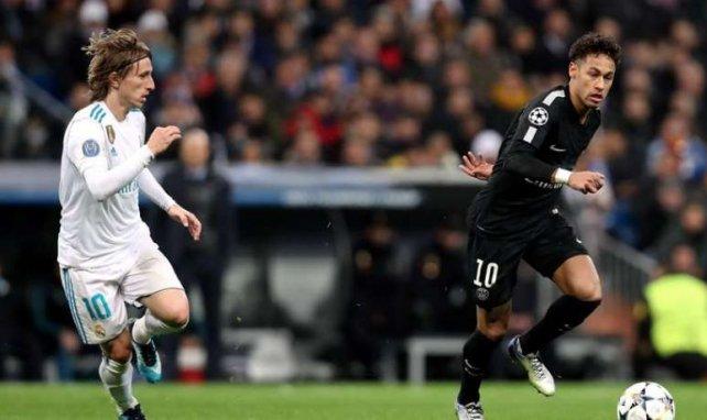 Les chemins de Luka Modric et Neymar, ici face-à-face en Ligue des Champions la saison passée, pourraient se croiser cet été
