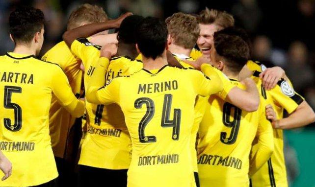 Les joueurs de Dortmund en pleine célébration