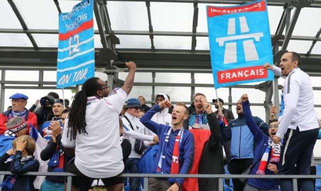 Les supporters français ont donné de la voix hier à l'entraînement des Bleus