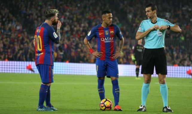 Lionel Messi et Neymar sous les couleurs du Barça en octobre 2016