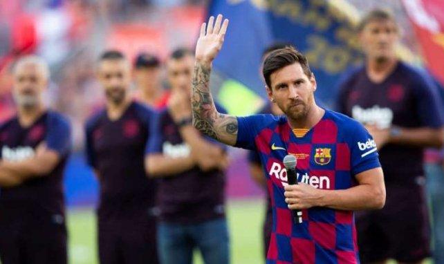 Lionel Messi, ici en plein discours de présentation au Camp Nou, lâche ses vérités