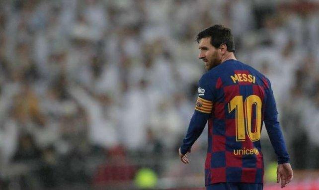 Lionel Messi, seul, lors du Clasico