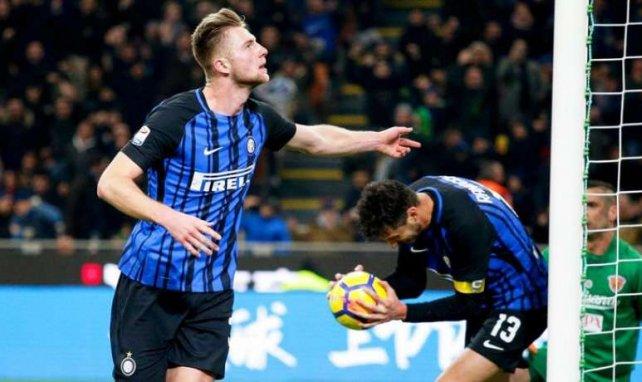 Milan Skriniar lors de la rencontre entre l'Inter Milan et Benevento en Serie A