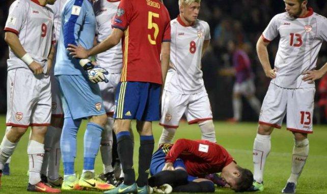 Morata s'est blessé avec la sélection espagnole contre la Macédoine