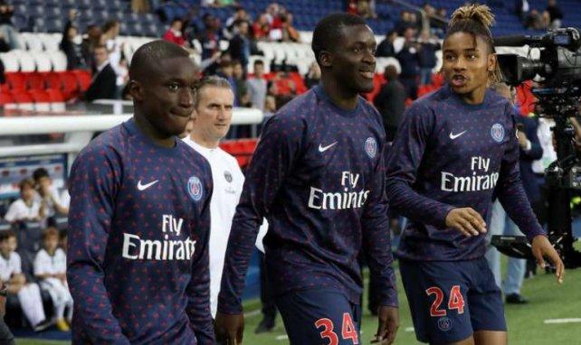 Moussa Diaby et Stanley Nsoki ici en compagnie de Christopher Nkunku