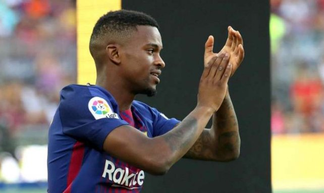 Nelson Semedo lors de sa présentation avec le Barça