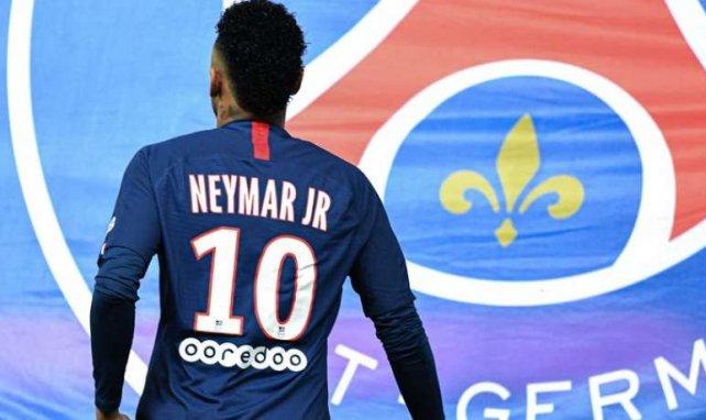 Neymar lors du match entre le PSG et Reims