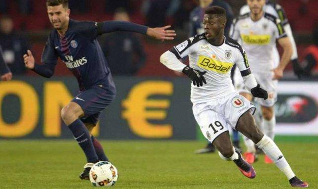 Nicolas Pépé lors d'un match avec le SCO d'Angers