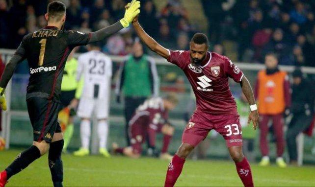 Nkoulou lors d'un match de Serie A perdu contre la Juventus