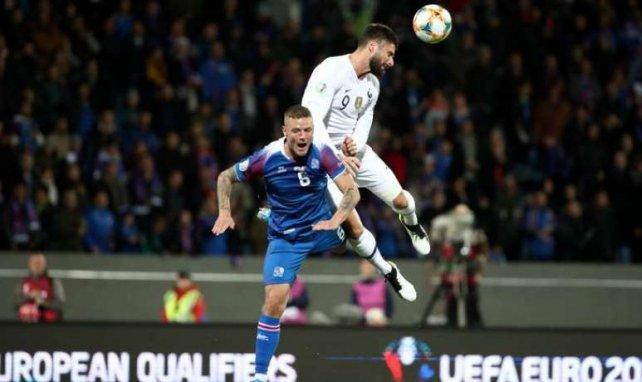 Olivier Giroud offre la victoire à l'équipe de France face à l'Islande