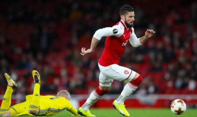 Olivier Giroud sous le maillot d'Arsenal