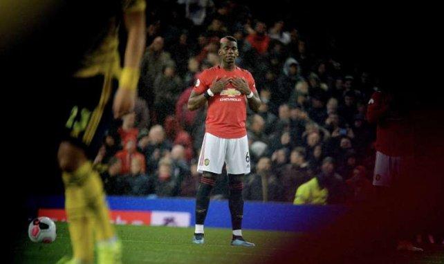 Paul Pogba lors de son dernier match avec MU face à Arsenal