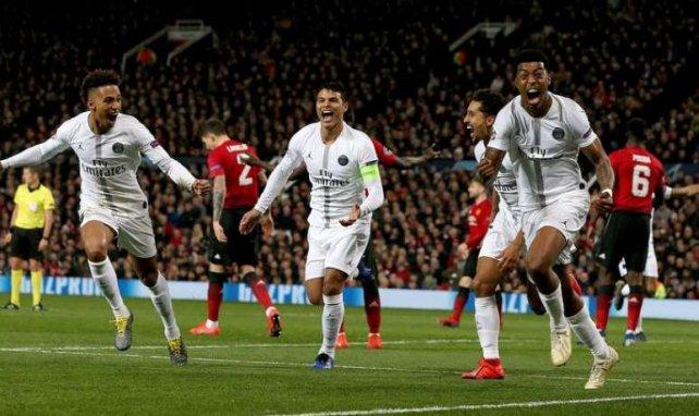 Presnel Kimpembe et ses coéquipiers célèbrent le but du défenseur