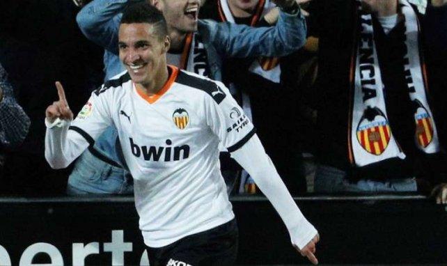 Rodrigo Moreno célèbre un but avec Valence cette saison