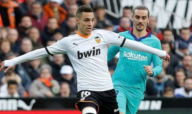 Rodrigo Moreno lors du match Valence - Barça