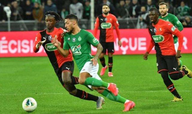 Saint-Etienne et Denis Bouanga se qualifient pour la finale de la Coupe de France