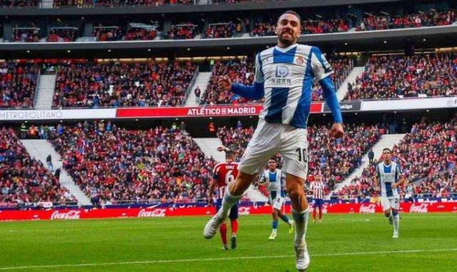 Sergi Darder célèbre son but face à l'Atlético de Madrid en novembre dernier