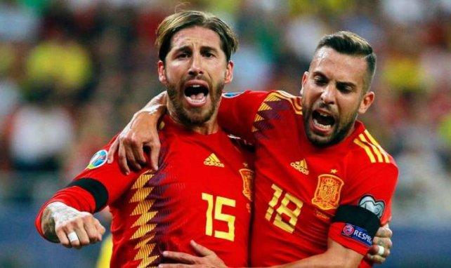 Sergio Ramos a célébré son but en compagnie de Jordi Alba
