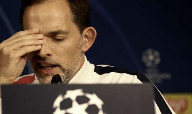 Thomas Tuchel lors d'une conférence de presse avant Real Madrid-PSG