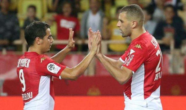Wissam Ben Yedder Islam Slimani lors de la rencontre entre Brest et Monaco