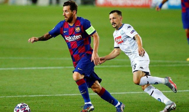Lionel Messi face à Naples