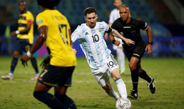 Lionel Messi en action lors de la Copa América