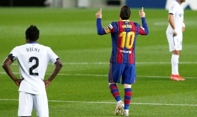 Lionel Messi après son premier but contre Getafe
