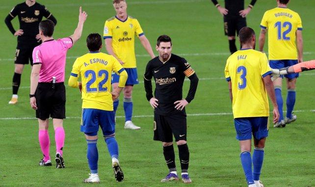 Lionel Messi lors du match contre Cadiz le 5 décembre 2020